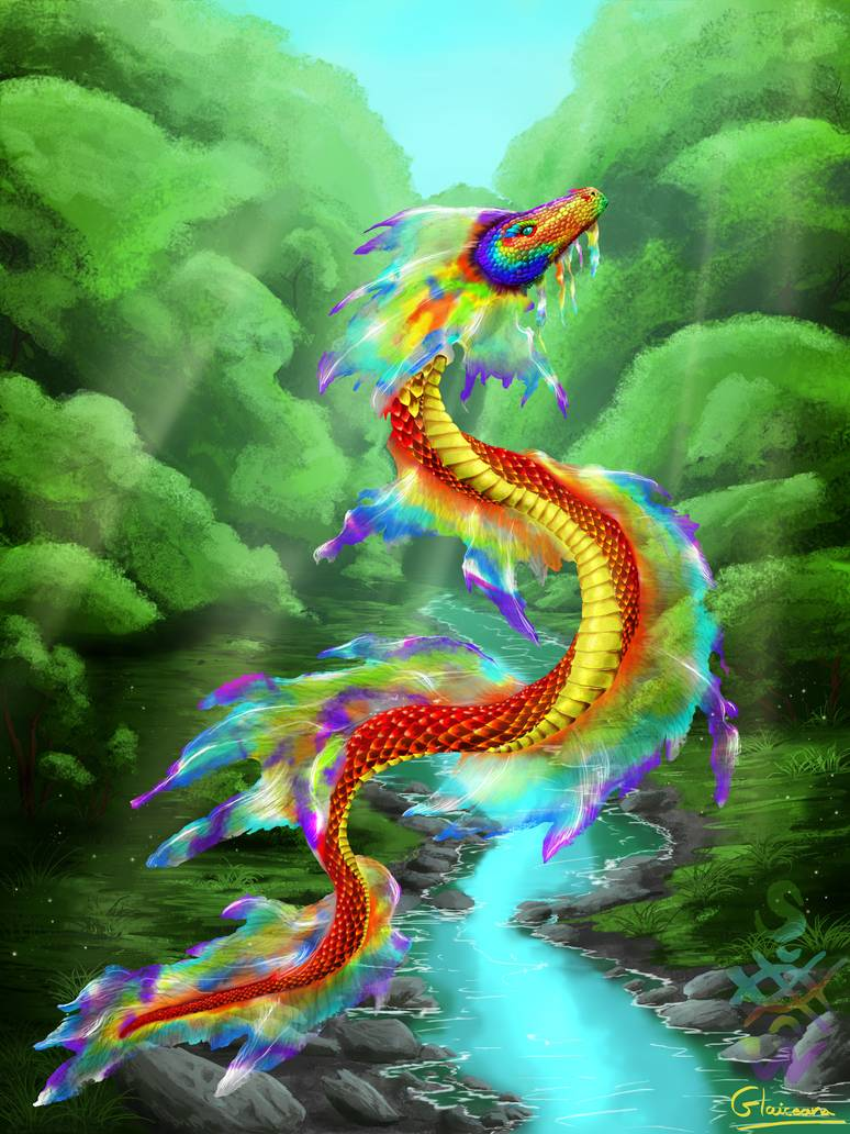 Rainbow Serpent By Glaiceana On Deviantart With Images Rainbow