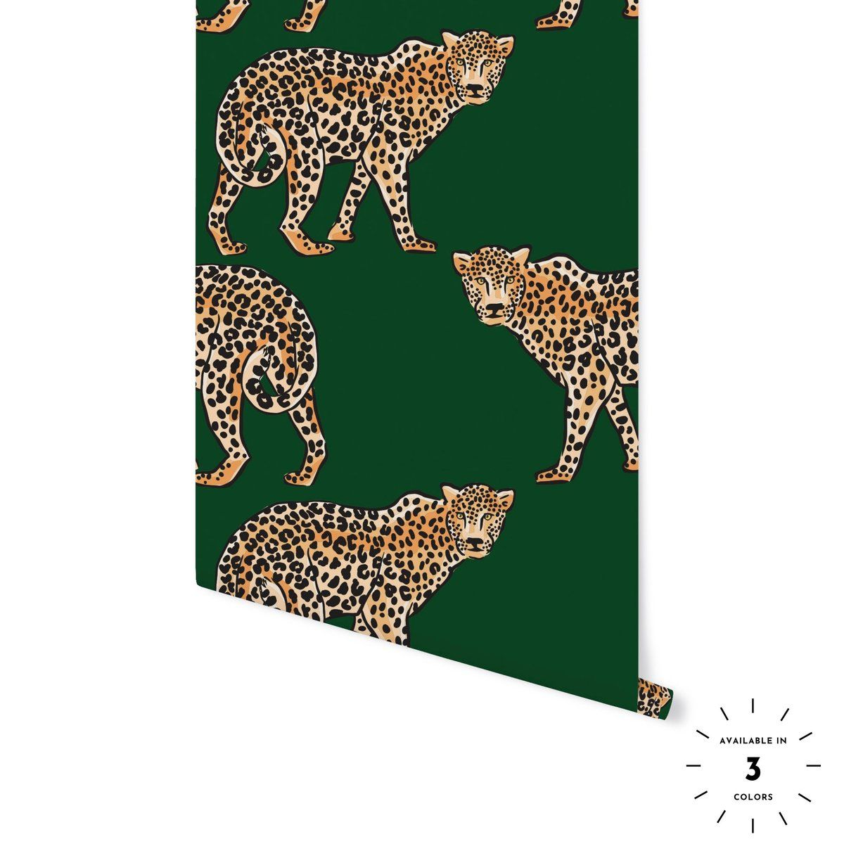 Jungle Leopard Cheetah Print Wallpaper Leopard Wallpaper Peel And Stick Wallpaper