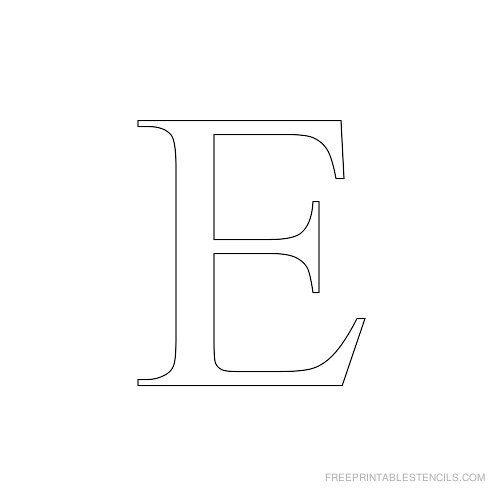 Worksheets Letter E Cursive Stencil Printable printable times new roman alphabet stencil e e