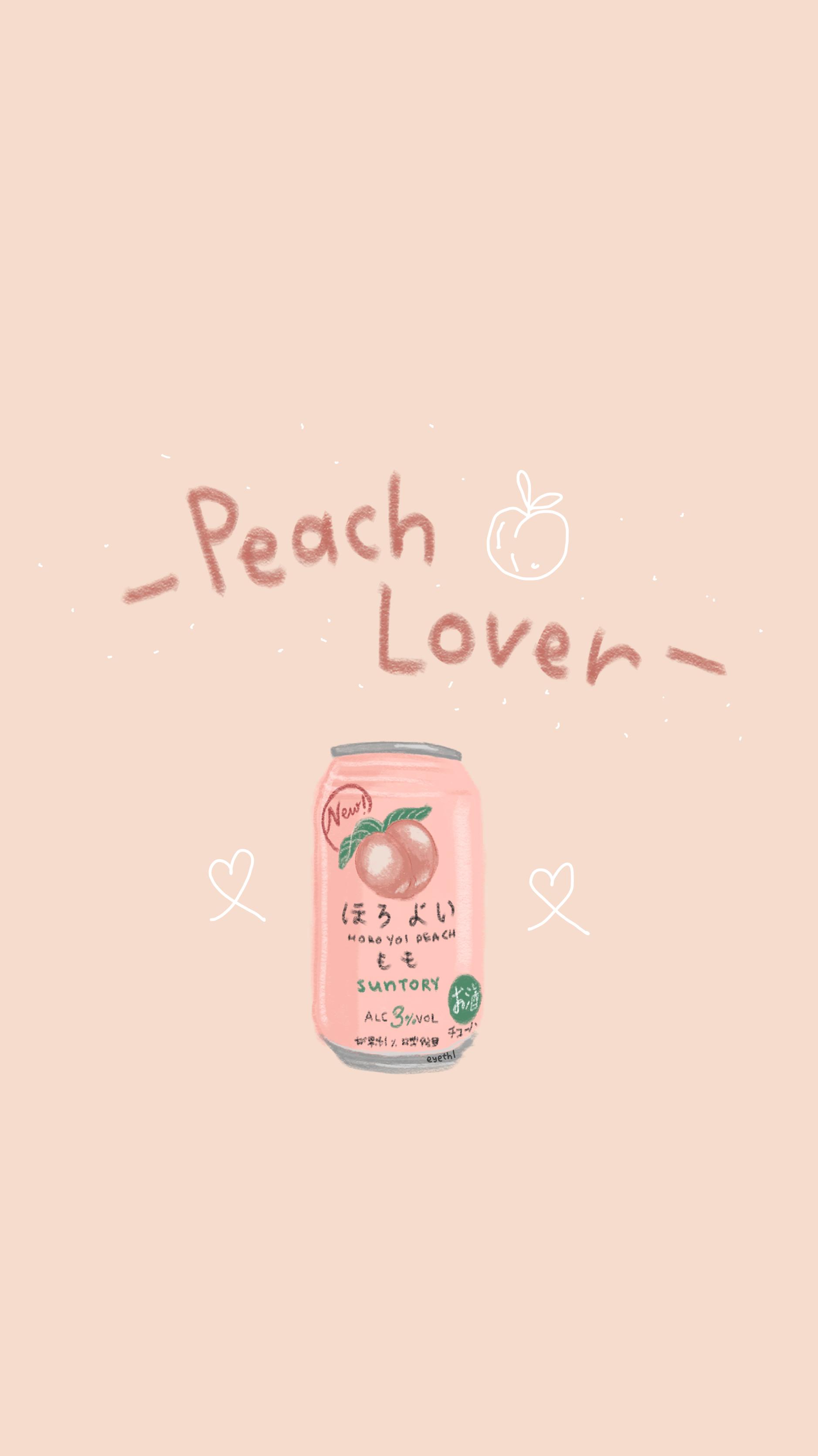 Pin By Eye On By Eyethk Peach Wallpaper Peach Aesthetic Iphone Wallpaper