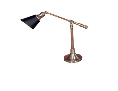 Blk/Brass Balance Arm Desk Lamp - Brook Furniture Rental - www.bfr.com