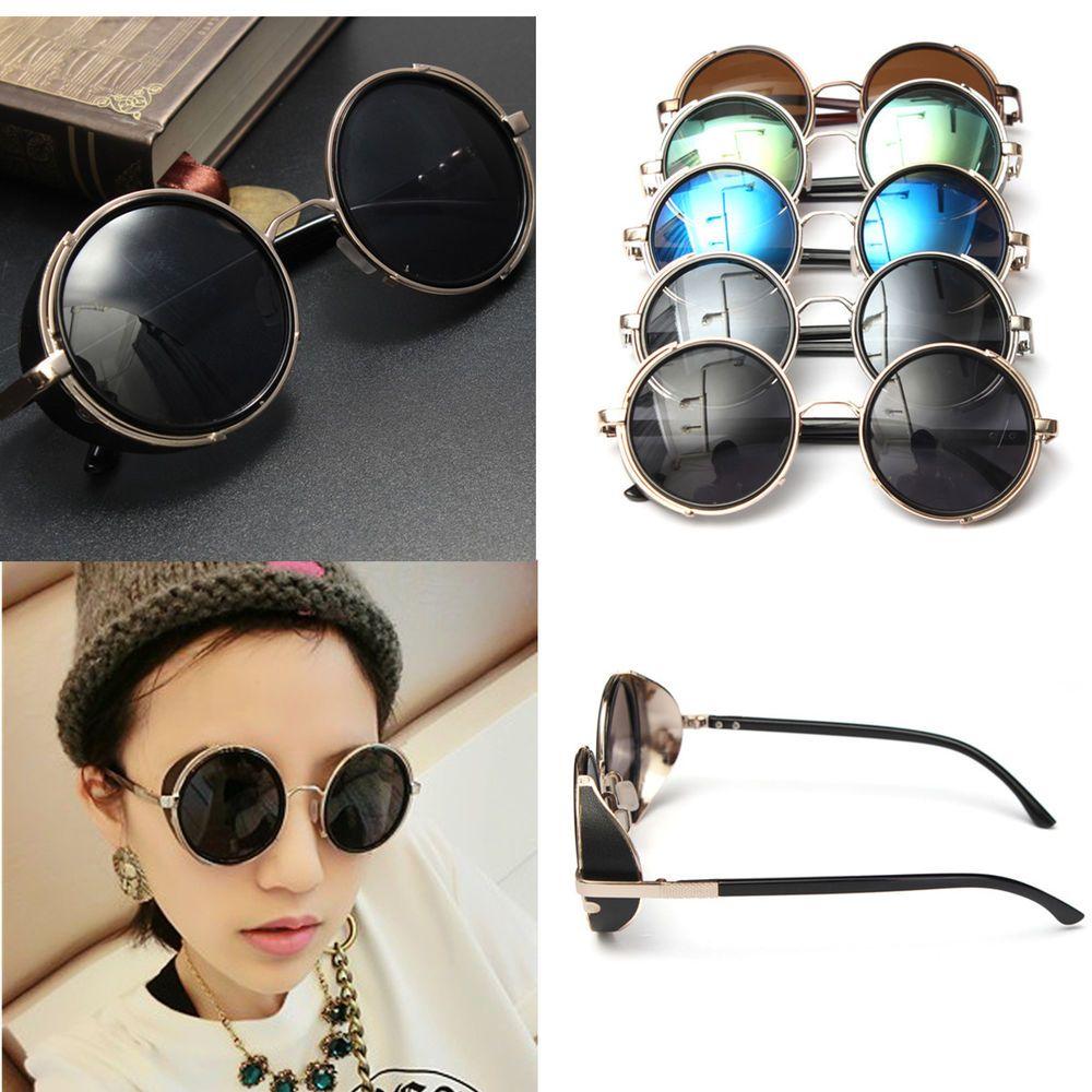 Miroir Cadre Lens Lunettes De Soleil Ronde Rock Steampunk