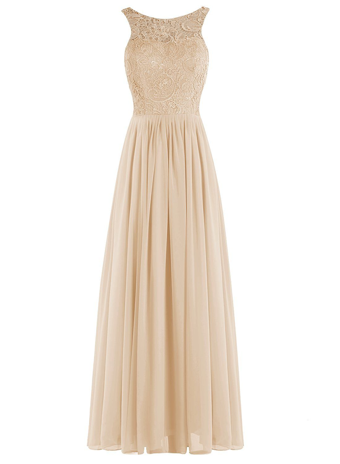 Tideclothes long lace bridesmaid dress chiffon hollow prom evening