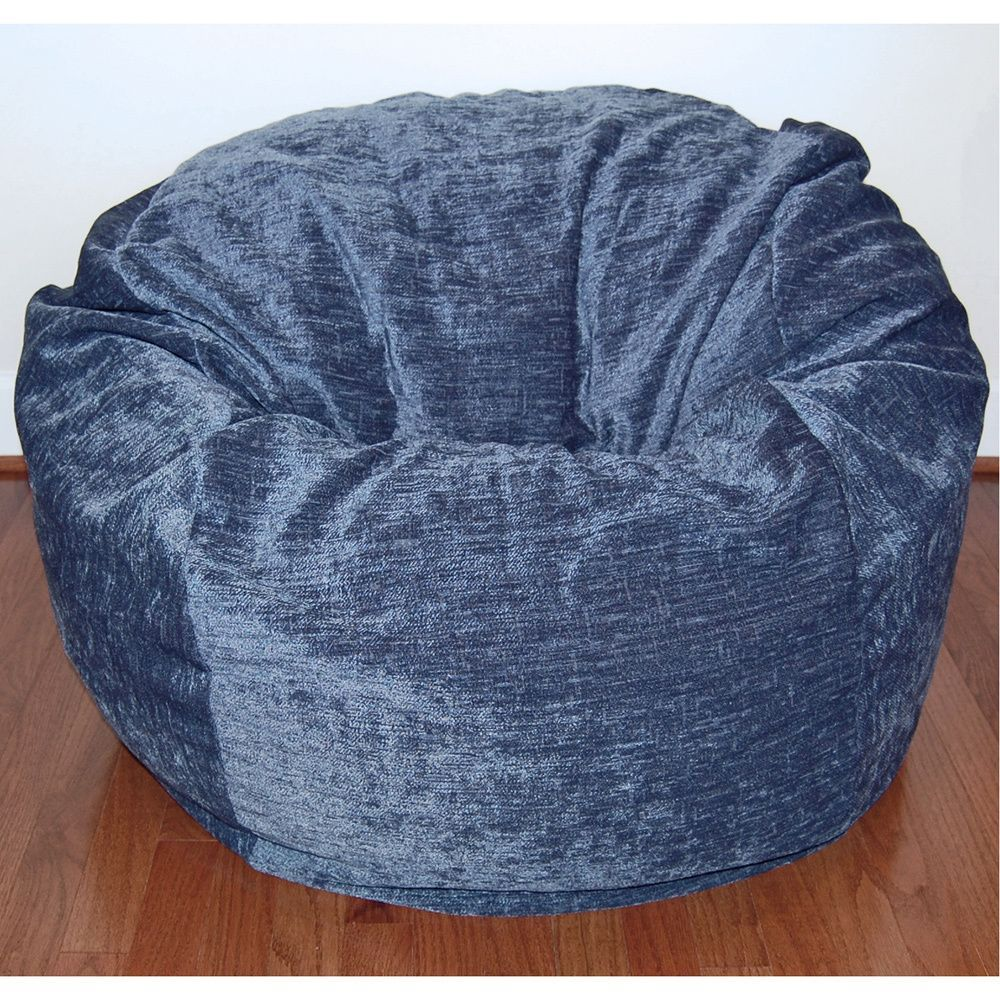 Enjoyable Ahh Products Navy 36 Inch Wide Washable Bean Bag Chair Evergreenethics Interior Chair Design Evergreenethicsorg