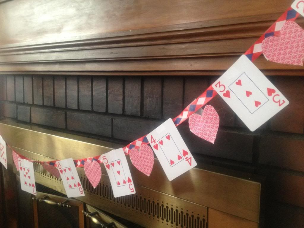 Purposeful Play Time Diy Playing Card Valentine S Day Banner Kids