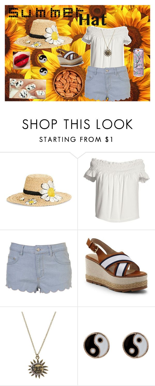 """""""beautiful as a flower"""" by am79226 on Polyvore featuring Kate Spade, Canvas by Lands' End, Lands' End, Accessorize and summerhat"""