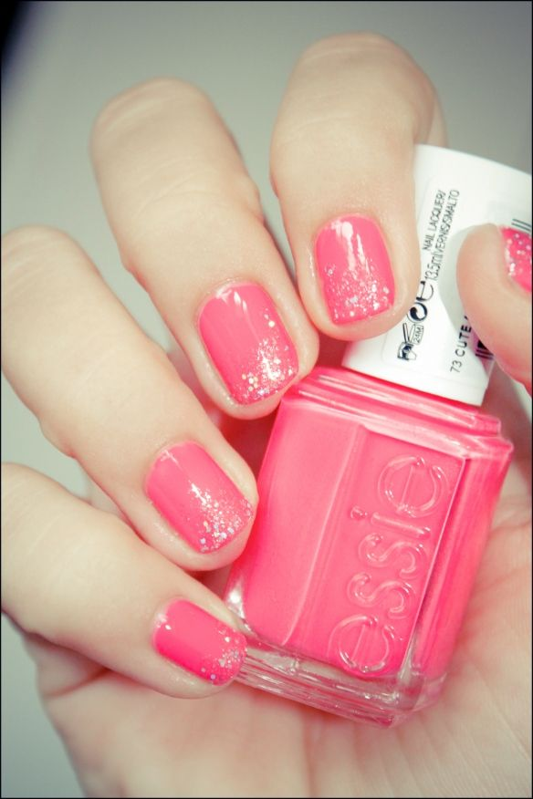 Essie - Cute as a Button. Pink and glitter | Nails! | Pinterest ...