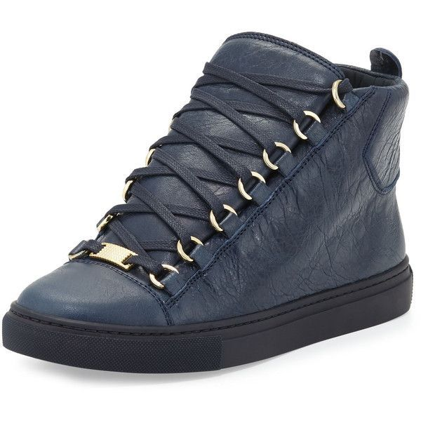 52bfc47826f2 Balenciaga Arena Leather High-Top Sneaker ( 585) via Polyvore featuring  shoes