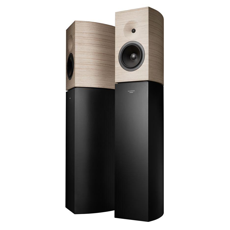 jean nouvel designs wood-encased philharmonia speakers for amadeus