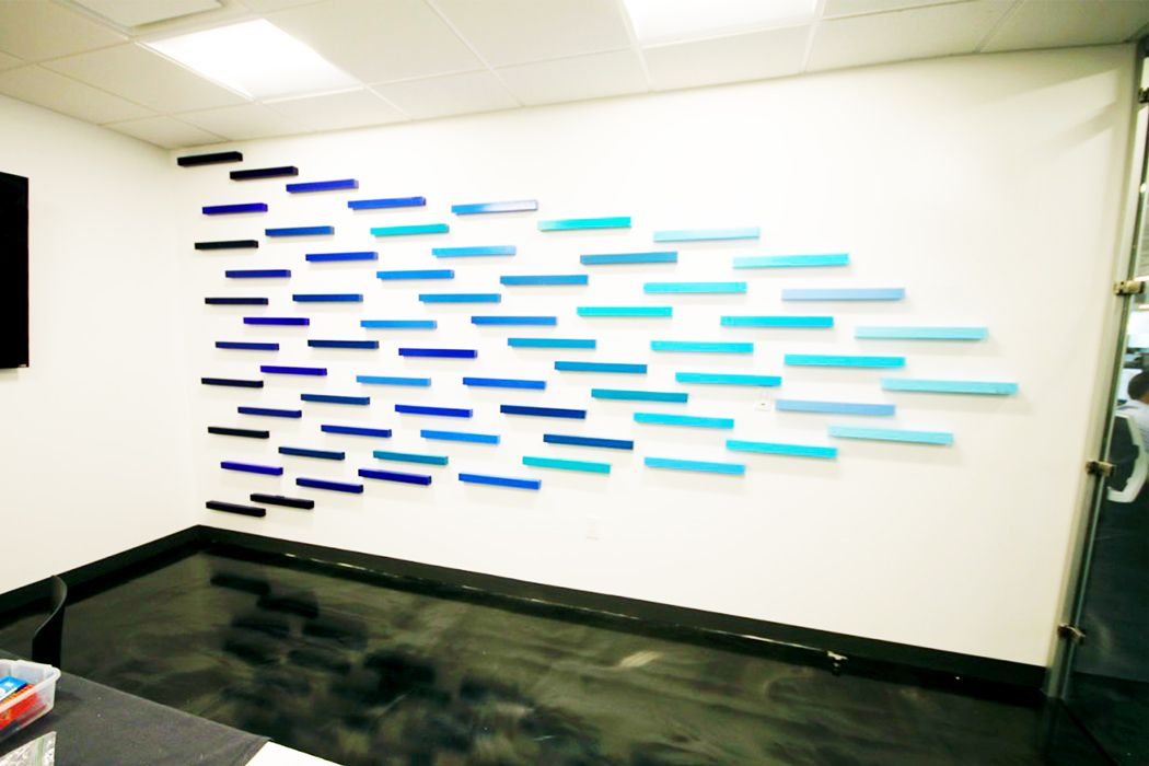 Custom office art modern art corporate art commercial wall art public art