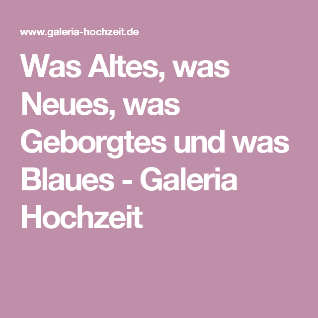 innovative design 59993 a0b01 Was Altes, was Neues, was Geborgtes und was Blaues - Galeria ...