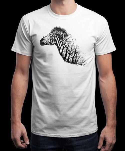 """""""Deforestation"""" is today's £8/€10/$12 tee for 24 hours only on www.Qwertee.com Pin this for a chance to win a FREE TEE this weekend. Follow us on pinterest.com/qwertee for a second! Thanks:)"""