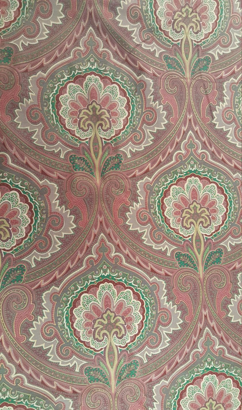 Vintage Wyngard Screen Printed Upholstery Fabric Usa Margin Designs