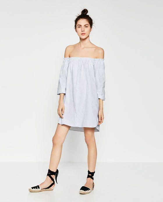 8d287d95 Image 1 of STRIPED-OFF-THE SHOULDER DRESS from Zara | estilo ...