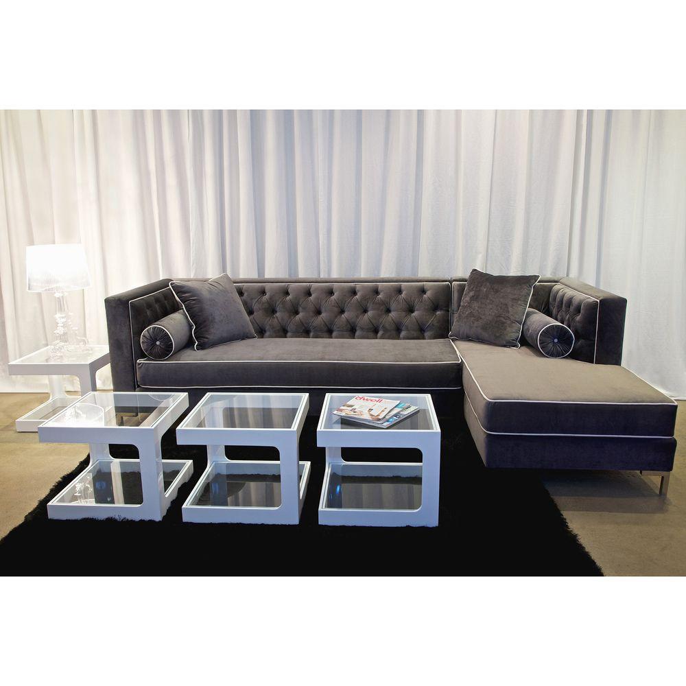 Decenni Custom Furniture U0027Tobiasu0027 Grey Sectional | Overstock.com