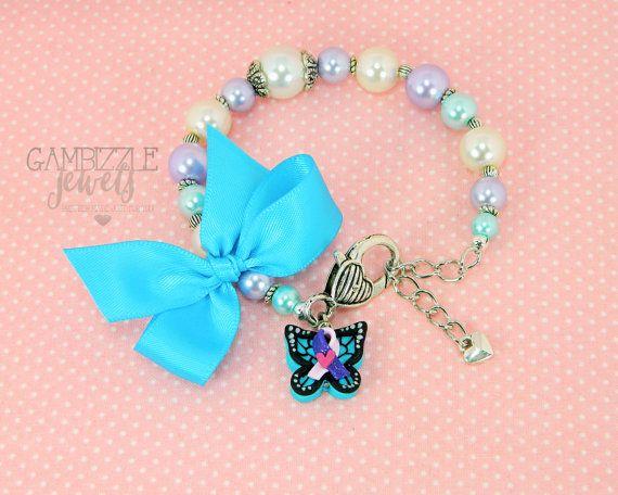 14b4cb33d thyroid disease awareness butterfly thyroid cancer awareness ribbon bracelet