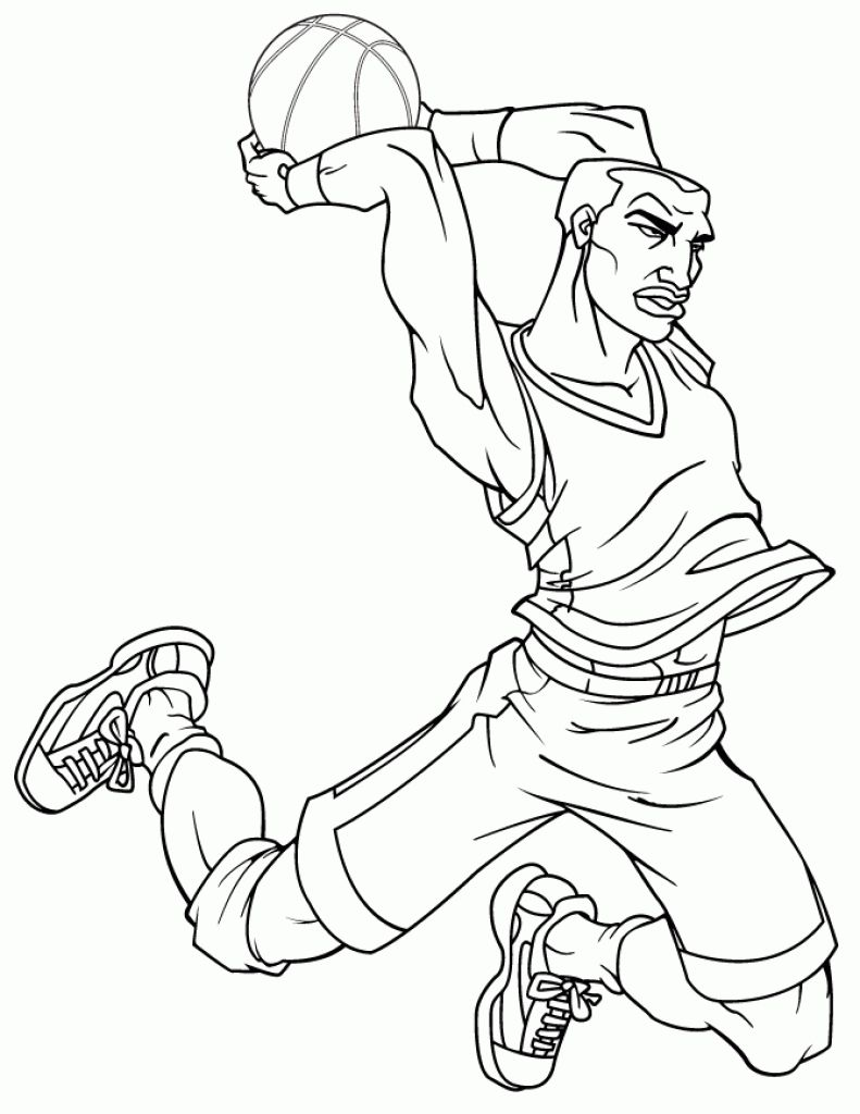 NBA Professional Basketball Kids Printable Coloring Page | Robbie ...