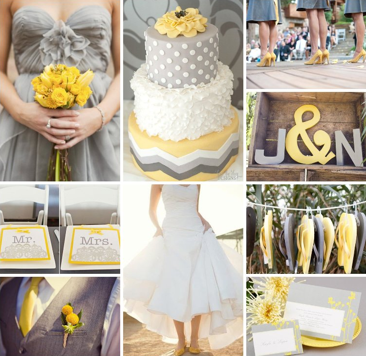 Gray And Yellow Wedding Colors Inspiration