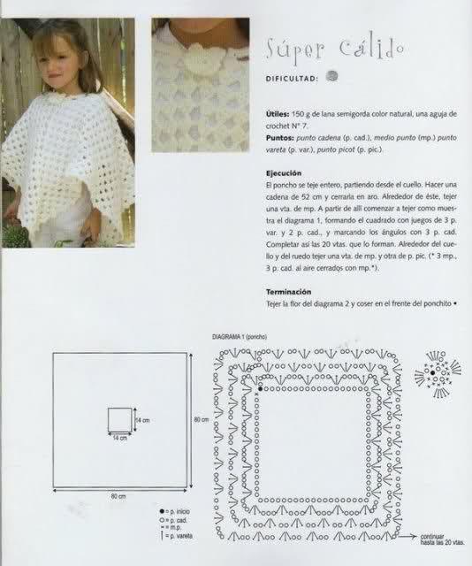 AYUDA CON PATRON | Arte que adoro | Pinterest | Crochet poncho ...