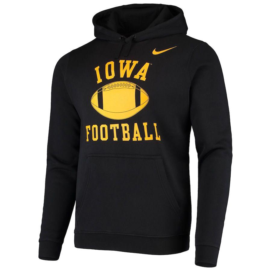 Iowa Hawkeyes Nike Retro Phys Ed Football Pullover Hoodie Black Nike Retro Hoodies Black Hoodie [ 900 x 900 Pixel ]