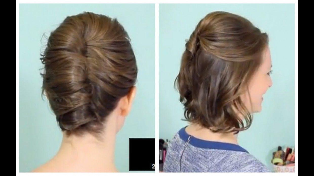 Easy Juda Hairstyle For Short Hair In 2020 Hair Styles Short Hair Tutorial Short Hair Updo