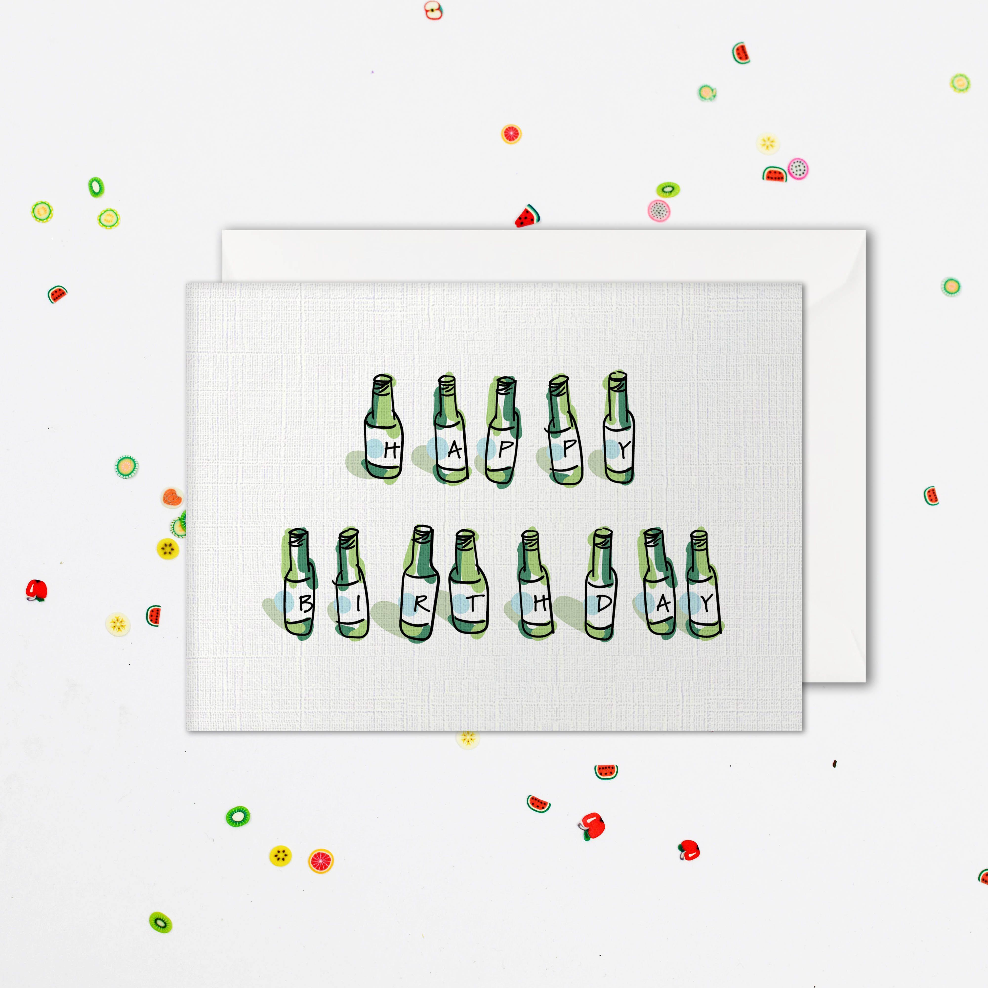 Soju Birthday Card Soju Happy Birthday Card Alcohol Card Etsy Birthday Cards Happy Birthday Cards Cards