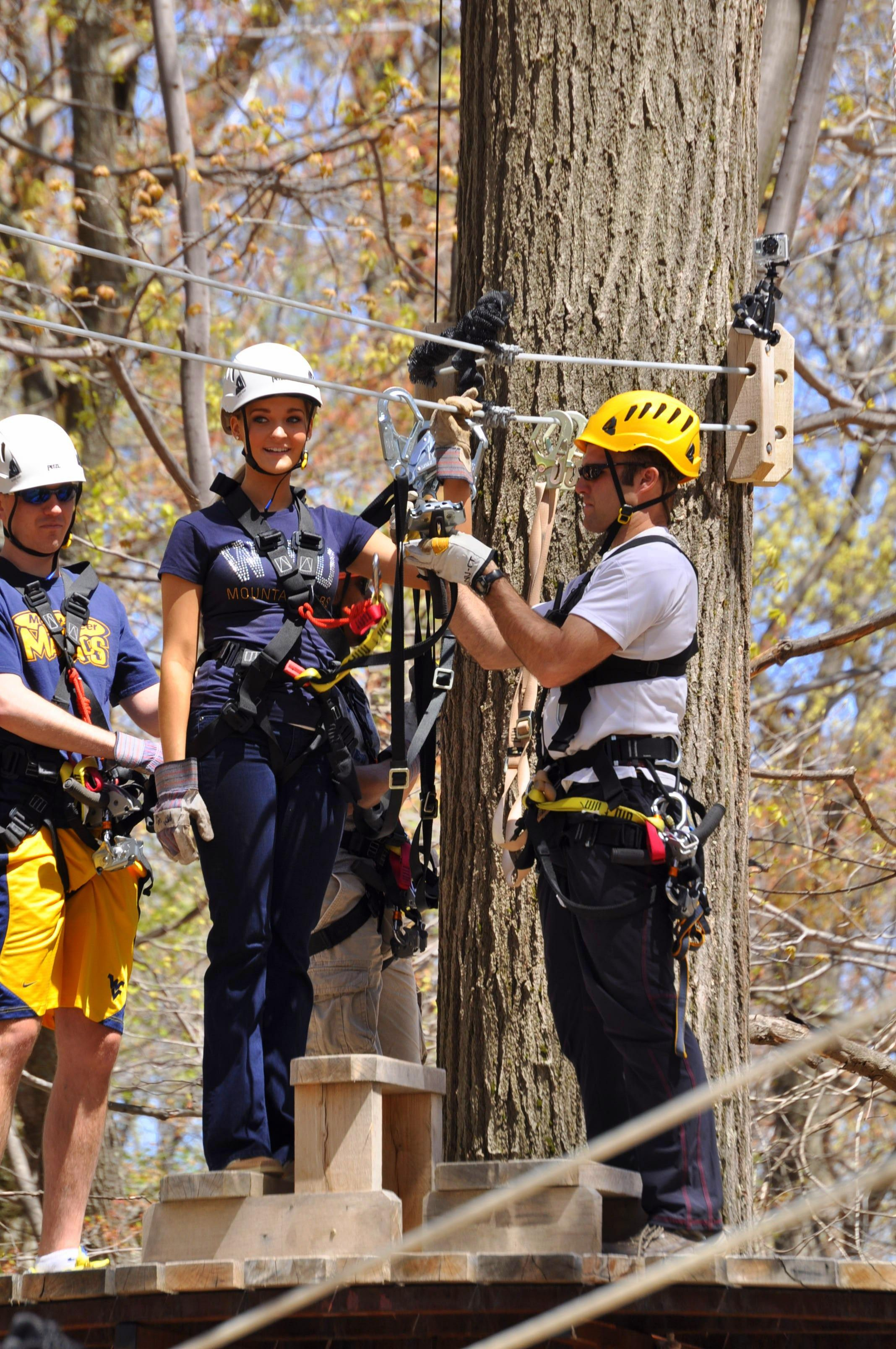 offers 120 miles of trails, zip lines