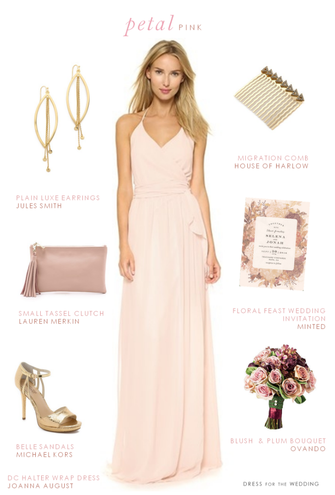 Pink Wrap Dress for Bridesmaids | Kleider