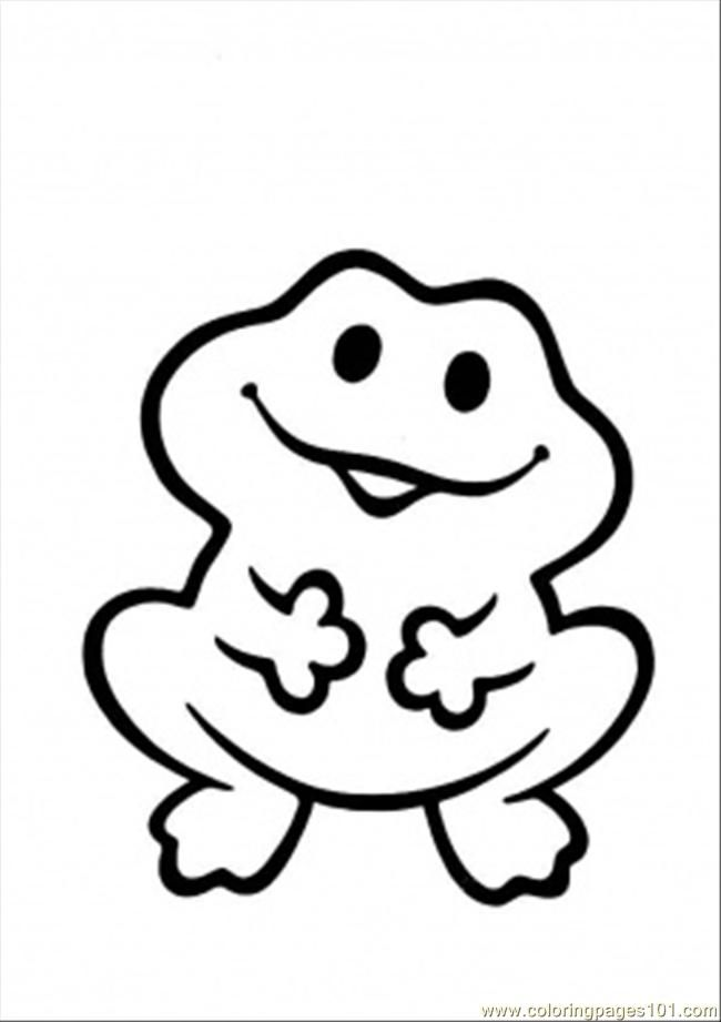 Printable Coloring Page Funny Frog Amphibians
