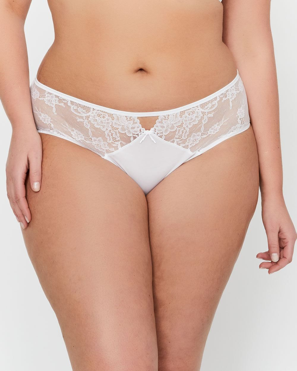 6917f0a2a  30 (Buy 2   Get 1 Free) Ashley Graham High Cut Panty with Lace   Mesh -  85% Nylon