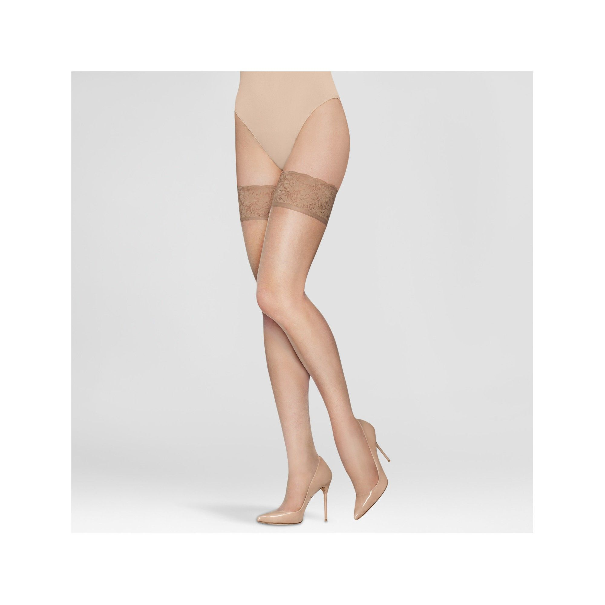 97cc88f43 Hanes Solutions Women s Sheer Thigh Highs - Beige L in 2019 ...