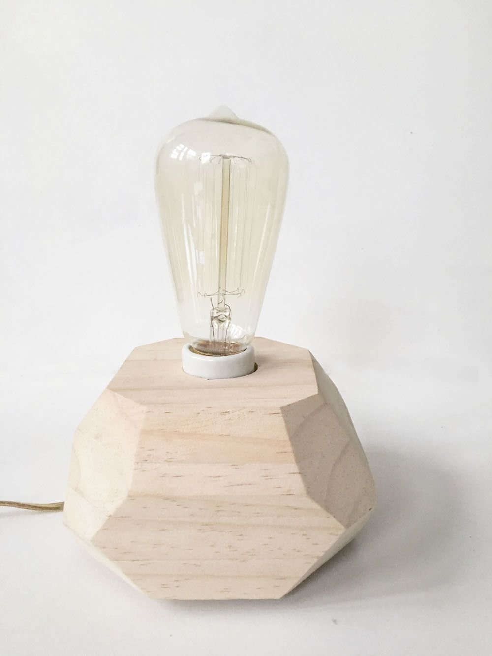 Diy Wooden Edison Bulb Table Lamp