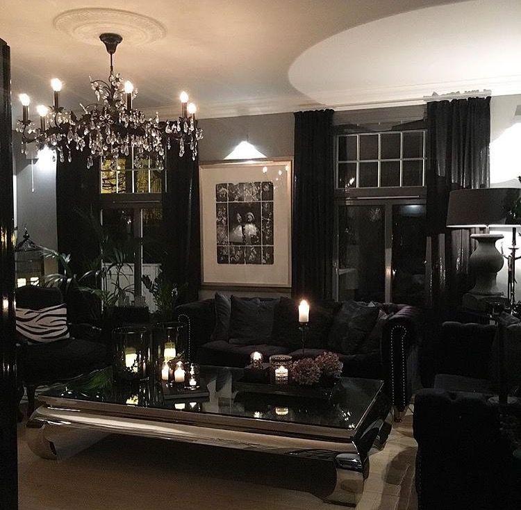 All Black Furniture In Dark Living Room Iamlexlethal Gothic