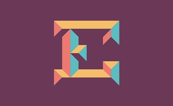 E is for Emboss by Elbert Niezen, via Behance