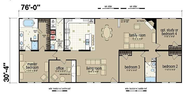 Floor Plans Champion 381L  Manufactured and Modular