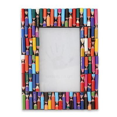 A great idea, use your childs old bits of pencils on a charity shop ...
