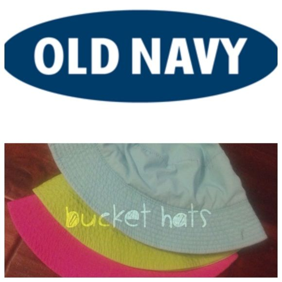 Three bucket hats 5.00(each ) Cute for the summer Old Navy Accessories