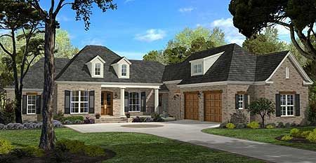 house spacious french country home plan - Country Home Plans