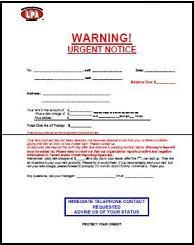 urgent late notice includes space for past due charges to tenant at