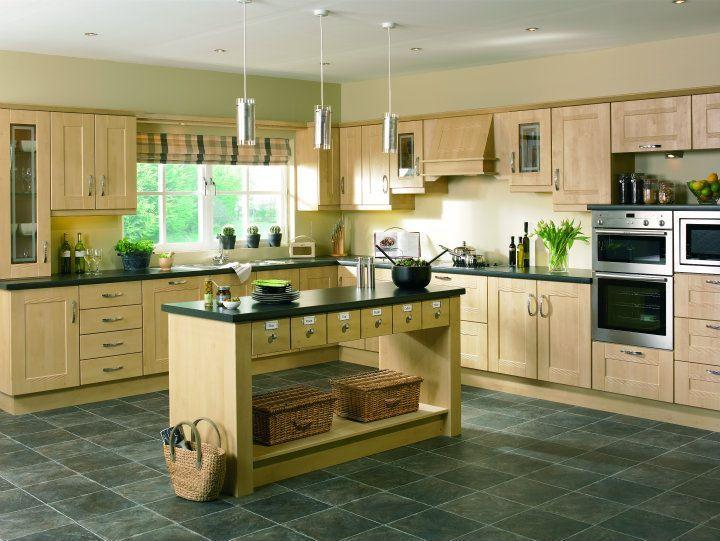 Sandy Birch Pvc Kitchen Design Decor Style Furniture Beech Kitchen Cabinets Classic Kitchens Birch Kitchen Cabinets