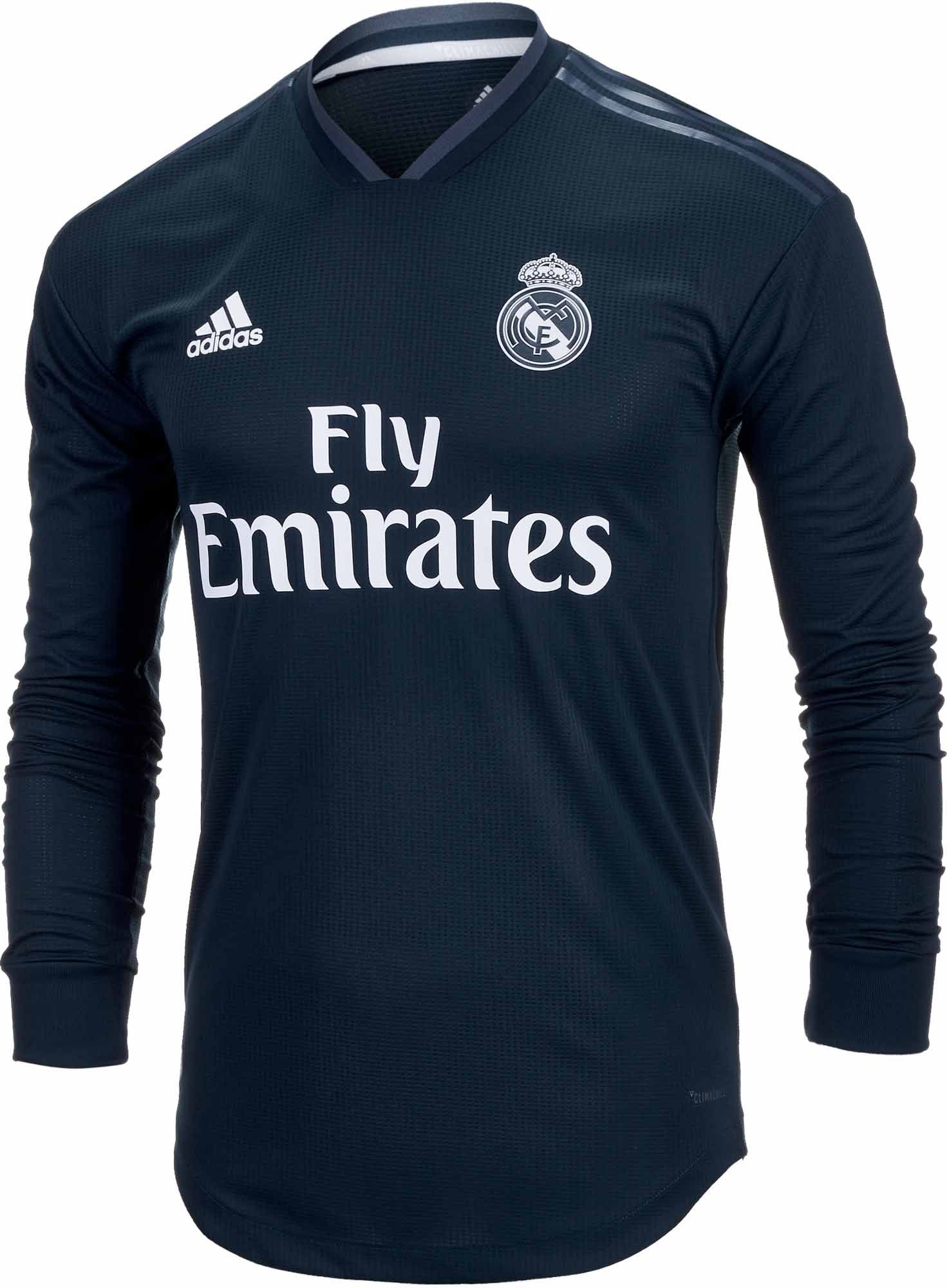 wholesale dealer cbaa7 60df8 adidas Real Madrid Away Authentic L/S Jersey 2018-19 | Love ...