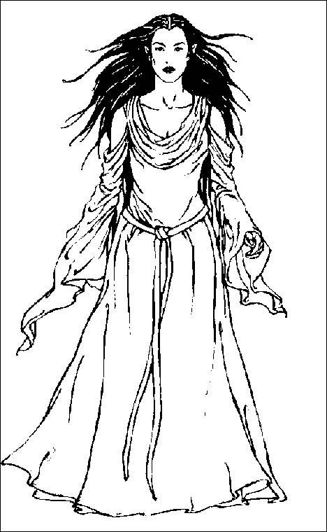 Coloring pages lord of the rings 6 - Arwen | Middle Earth Free ...