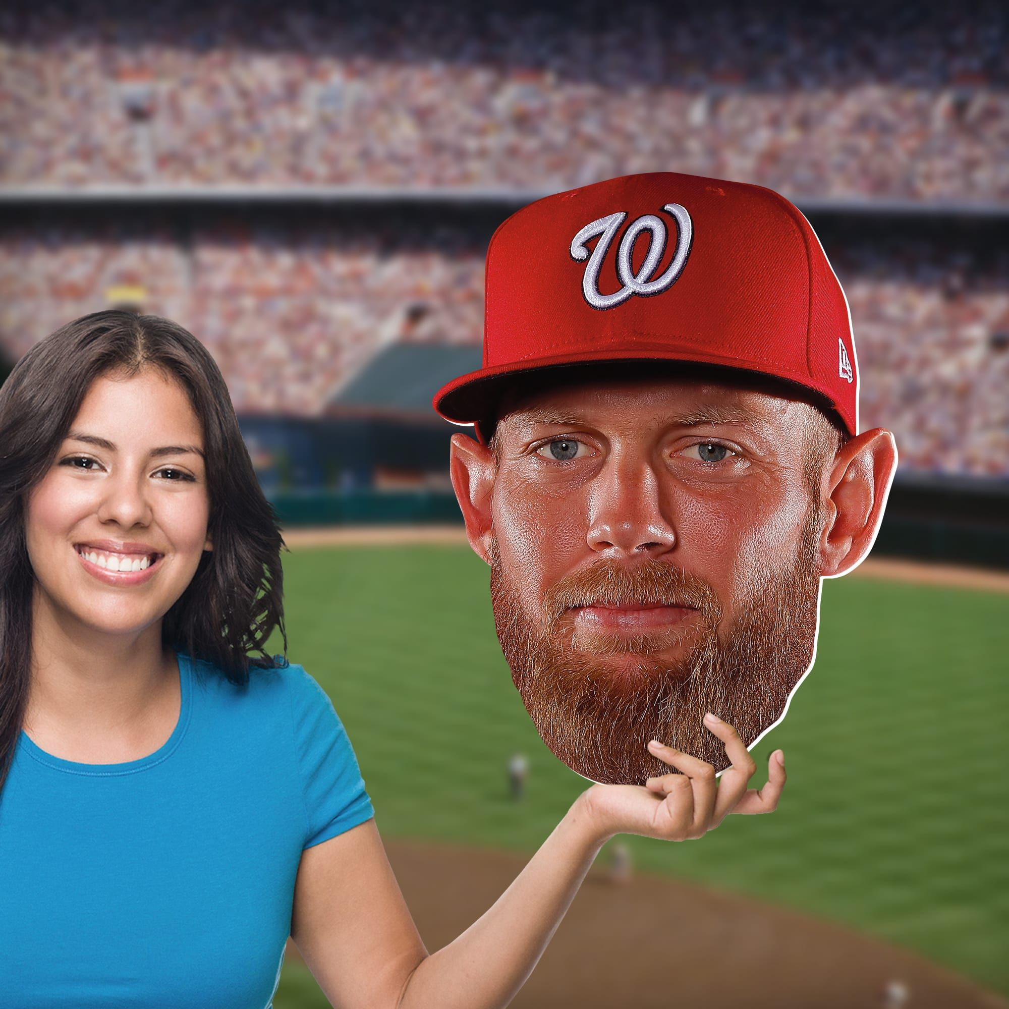 Stephen Strasburg Big Head Officially Licensed Mlb Foam Core Cutout Life Size Cutouts Athletic Events Mlb