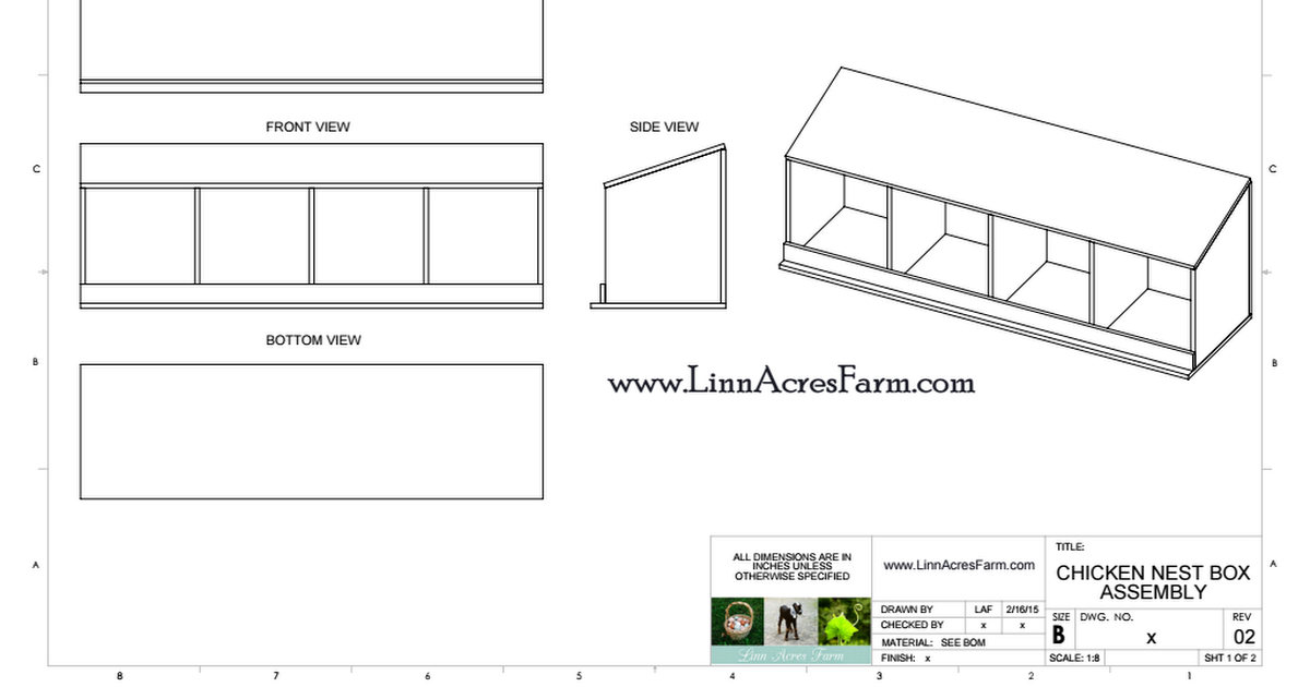 Linn Acres Farm Nest Box Plans.PDF Nesting boxes, Nest, Box