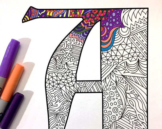 "Letter A Zentangle - Inspired by the font ""Deutsch Gothic"""