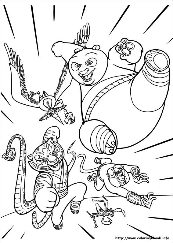 Kung Fu Panda 2 Coloring Picture (With Images) Panda Coloring