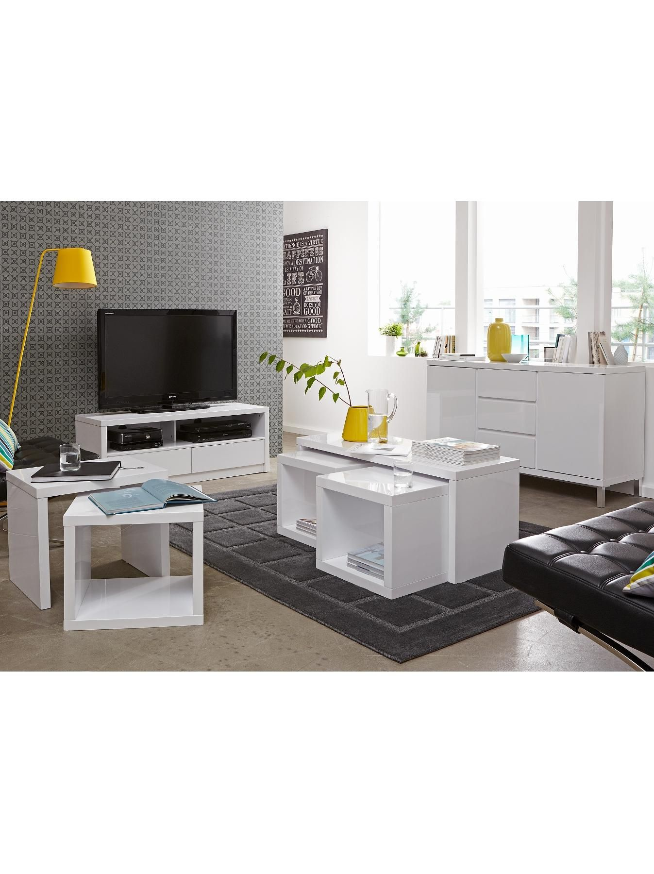 Littlewoods Ireland Online Shopping Fashion Homeware Coffee Table White Large Sideboard White Gloss Coffee Table