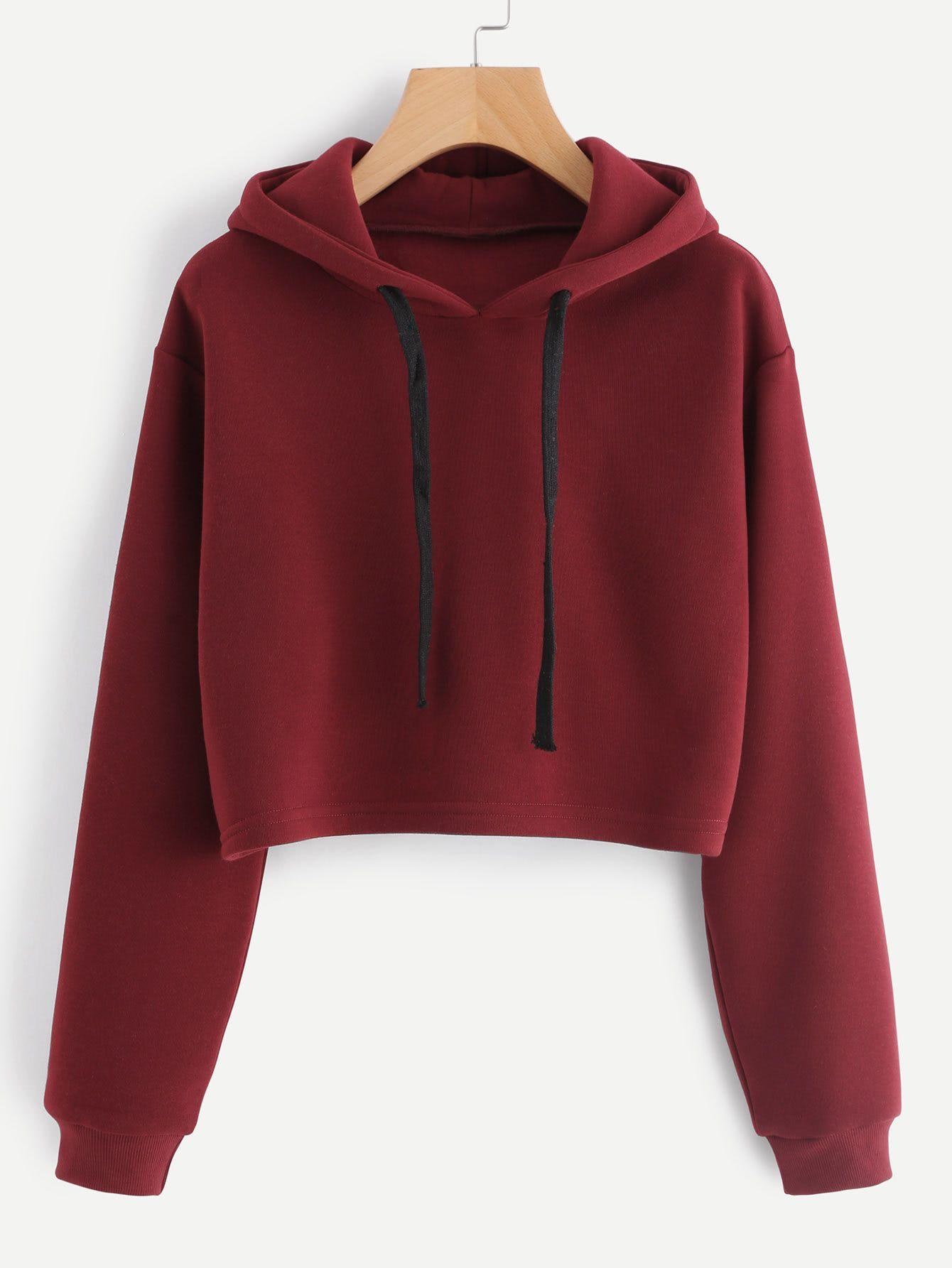 timeless design 2b55a 7543e Shop Hooded Drawstring Cashmere Sweatshirt online. SheIn ...