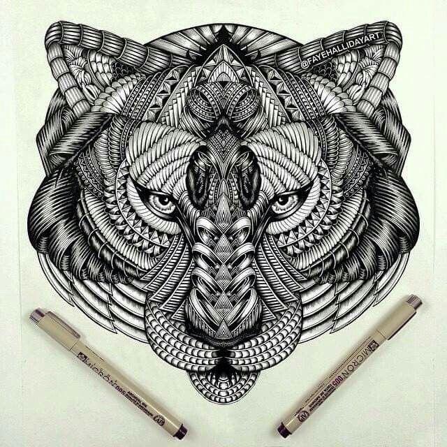 Inspirierende Tattoos, Tier Doodles Und Tiger