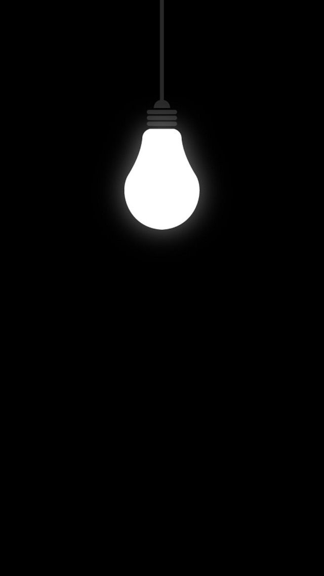 black white lightbulb iphone wallpaper phone background lock screen - Black Light Bulbs